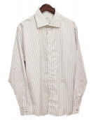 HERMES(エルメス)の古着「ストライプシャツ」|ホワイト×グレー