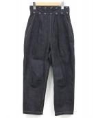 TOGA PULLA(トーガ プルラ)の古着「スタッズハイウエストデニムパンツ」|インディゴ