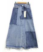 upper hights(アッパー ハイツ)の古着「デニムスカート」|スカイブルー