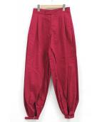 PAMEO POSE(パメオ ポーズ)の古着「スピリットボンタンパンツ」|レッド