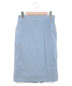 MADISON BLUE(マディソンブルー)の古着「バックサテンタイトロングスカート」 ブルー