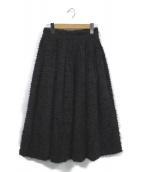 OBLI(オブリー)の古着「フリンジスカート」|ブラック