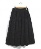 OBLI(オブリ)の古着「フリンジスカート」 ブラック
