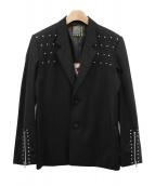 CREAM SODA(クリームソーダ)の古着「スタッズテーラードジャケット」|ブラック
