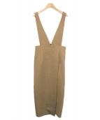 NOBLE(ノーブル)の古着「サロペットタイトワンピース」|キャメル