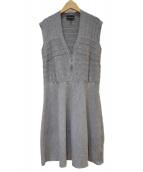 EMPORIO ARMANI(エンポリオアルマーニ)の古着「ニットワンピース」|グレー