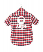 AAPE BY A BATHING APE(エーエイプ バイアベイシングエイプ)の古着「半袖シャツ」|レッド