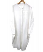 RIM.ARK(リムアーク)の古着「コンビネーションシャツワンピース」|ホワイト