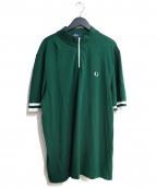 FRED PERRY(フレッドペリ)の古着「ハーフジップポロシャツ」|グリーン