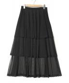 CLEANA(クリーナ)の古着「ティアードロングスカート」|ネイビー