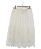 Sea NEW YORK(シーニューヨーク)の古着「アイレットラップスカート」|ホワイト