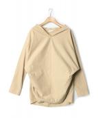 DEUXIEME CLASSE(ドゥーズィエム クラス)の古着「コットンリネンプルオーバーシャツ」|ベージュ
