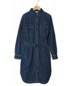 LACOSTE(ラコステ)の古着「デニムシャツワンピース」|ブルー