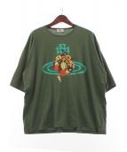 Vivienne Westwood man(ヴィヴィアン ウェストウッド マン)の古着「フローラルオーブビッグTシャツ」|グリーン