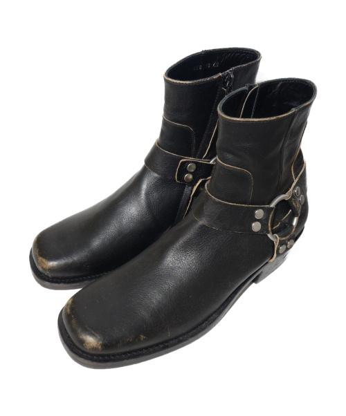 BALENCIAGA(バレンシアガ)BALENCIAGA (バレンシアガ) ハーネスブーツ  ブラウン サイズ:46 キズ 加工の古着・服飾アイテム