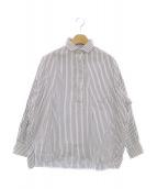 TICCA(ティッカ)の古着「ストライプスクエアビッグシャツ」 ネイビー