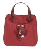 TILA MARCH(ティラマーチ)の古着「ナイロンハンドバッグ」|レッド
