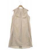 BARBA(バルバ)の古着「ノースリーブワンピース」|ベージュ