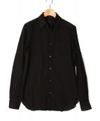 ANN DEMEULEMEESTER(アンドゥムルメステール)の古着「チェンジカラーシャツ」|ブラック
