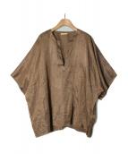 COSEI(コセイ)の古着「プルオーバーシャツ」|ブラウン