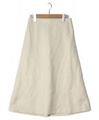 YLEVE(イレーヴ)の古着「綿麻Aラインスカート」|アイボリー