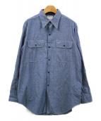 MADISON BLUE(マディソンブルー)の古着「HAMPTONシャンブレーシャツ」|ブルー