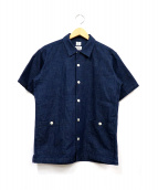 PHERROWS(フェローズ)の古着「オープンカラーデニムシャツ」|インディゴ