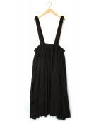 LIMI feu(リミ フゥ)の古着「サスペンダースカート」|ブラック