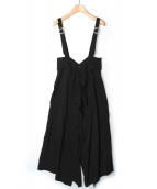 LIMI feu(リミ フゥ)の古着「サロペットスカート」|ブラック