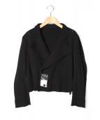 ISSEY MIYAKE(イッセイ ミヤケ)の古着「ニットジャケット」 ブラック