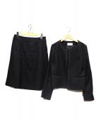 any SiS(エニィスィス)の古着「リップルボーダーストレッチセットアップ」|ブラック