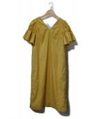 The Virgnia(ザヴァージニア)の古着「袖フリルワンピース」|イエロー