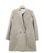 MARELLA(マレーラ)の古着「ジャガードコート」|ベージュ