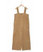fig London(フィグロンドン)の古着「ランダムコールサロペット」|ブラウン