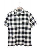 GOOD ENOUGH(グッドイナフ)の古着「TRIBAL BUFFALO S/S SHIRT」|ホワイト×ブラック