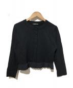 YOKO CHAN(ヨーコチャン)の古着「フリルカーディガン」|ブラック