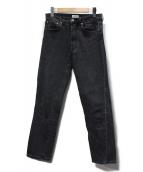 toteme(トーテム)の古着「ハイウエストスリムストレートデニムパンツ」|ブラック