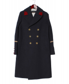 GUCCI(グッチ)の古着「DOUBLE BREASTED COAT」|ネイビー