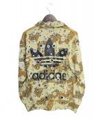 adidas Originals by JEREMY SCOTT(アディダスオリジナルスバイジェレミースコット)の古着「CRYSTAL HOLE TRACK TOP」|ベージュ