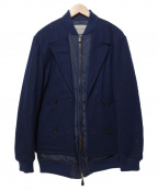 Casely-Hayford(ケイスリーヘイフォード)の古着「レイヤードキルティングブルゾン」|ネイビー