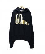 GOLDEN GOOSE DELUXE BRAND(ゴールデングースデラックスブランド)の古着「プルオーバーパーカー」|ネイビー