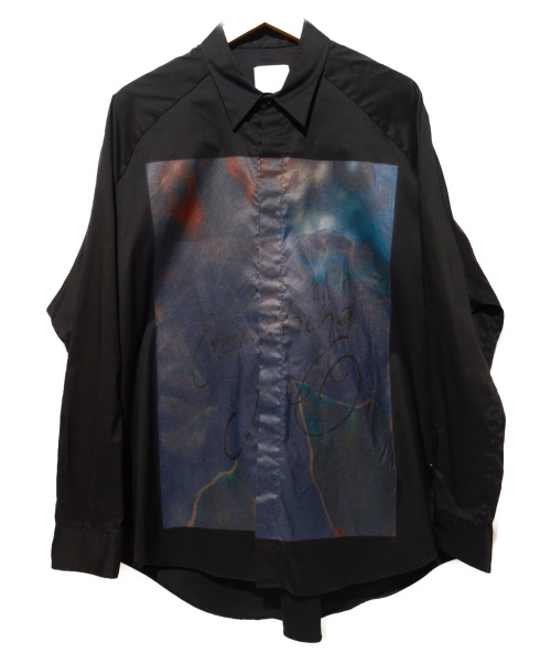 Sise(シセ)Sise (シセ) プリントシャツ ブラック サイズ:0の古着・服飾アイテム