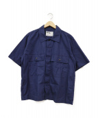 MHL.(エムエイチエル)の古着「半袖ポプリンシャツ」|ネイビー