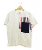 Coohem(コーヘン)の古着「ツイードポケットTシャツ」|ホワイト