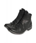 D.HYGEN(ディーハイゲン)の古着「Buffalo leather lace up boots」|ブラック