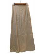 Whim Gazette(ウィムガゼット)の古着「リネン混マキシスカート」|ベージュ