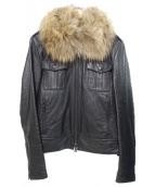 LITHIUM HOMME(リチウム オム)の古着「ファー付レザージャケット」|ブラック