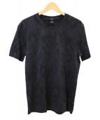 BOSS HUGO BOSS(ボスヒューゴボス)の古着「ジャカードTシャツ」 ブラック