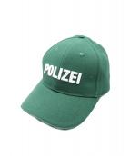 VETEMENTS(ヴェトモン)の古着「POLIZEI刺繍キャップ」 グリーン
