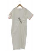 FACETASM(ファセッタズム)の古着「テープドレス」|ホワイト